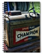 Vintage Champion Spark Plug Cleaner Spiral Notebook