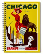 Vintage Chicago Travel Poster Spiral Notebook