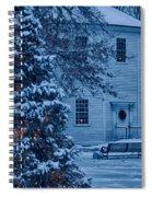 Vintage Christmas Church In Vermont Spiral Notebook