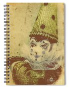 Vintage Circus Postcard Spiral Notebook