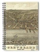 Vintage Cleveland Ohio Map Spiral Notebook