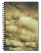 Vintage Cloudy Sky. Old Day Background Spiral Notebook