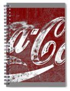 Coca Cola Red And White Sign Gray Border With Transparent Background Spiral Notebook
