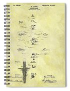 Vintage Croquet Patent Spiral Notebook