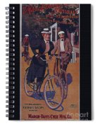 Vintage Cycle Poster March Davis Cycle 100 Dollars Spiral Notebook