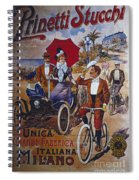 Vintage Cycle Poster Prinetti Stucchi Unica Grande Fabbrica Italiana Milano Spiral Notebook