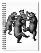 Vintage Dancing Bears Spiral Notebook