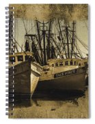 Vintage Darien Shrimpers Spiral Notebook
