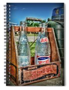 Vintage Double Dot Wooded Pepsi Carrier Spiral Notebook