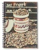 Vintage Drinks Decor  Spiral Notebook