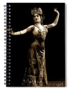 Vintage Exotic Dancer Spiral Notebook