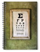 Vintage Eye Chart Spiral Notebook