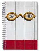 Vintage Eye Sign On Wooden Wall Spiral Notebook