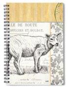 Vintage Farm 3 Spiral Notebook