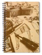 Vintage Fashion Design Spiral Notebook