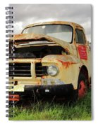 Vintage Flatbed Milk Truck Portrait Spiral Notebook