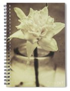 Vintage Floral Still Life Of A Pure White Bloom Spiral Notebook