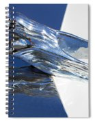 Vintage Flying Lady Hood Ornament Spiral Notebook