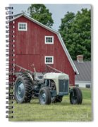 Vintage Ford Farm Tractor With Red Barn Spiral Notebook