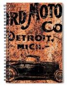 Vintage Ford Motor Company Spiral Notebook