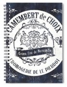 Vintage French Cheese Label 3 Spiral Notebook