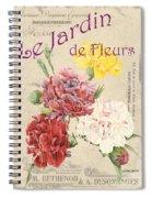 Vintage French Flower Shop 4 Spiral Notebook