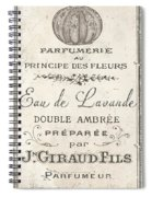Vintage French Perfume Sign Spiral Notebook