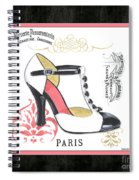 Vintage French Shoes 1 Spiral Notebook