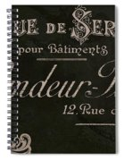 Vintage French Typography Sign Spiral Notebook