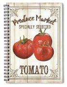 Vintage Fresh Vegetables 4 Spiral Notebook