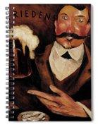 Vintage German Beer Advertisement, Friends Drinking Bier Spiral Notebook