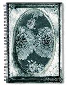 Vintage Glass Cyanoplate Dahlias Spiral Notebook