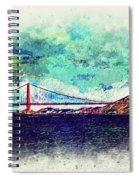 Vintage Golden Gate Spiral Notebook