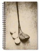 Vintage Golf Artwork Spiral Notebook