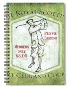 Vintage Golf Green 1 Spiral Notebook