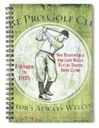 Vintage Golf Green 2 Spiral Notebook