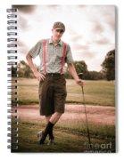 Vintage Golf Spiral Notebook