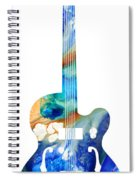 Vintage Guitar - Colorful Abstract Musical Instrument Spiral Notebook