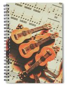 Vintage Guitars On Music Sheet Spiral Notebook