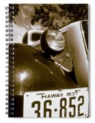 1937 Ford Pickup Truck Maui Hawaii Spiral Notebook