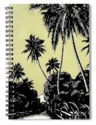 Vintage Hawaii Palms Spiral Notebook