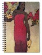 Vintage Hawaiian Woman Spiral Notebook