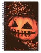 Vintage Horror Pumpkin Head Spiral Notebook