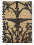 Vintage Iron Scroll Gate 1 Spiral Notebook