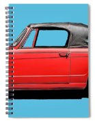 Vintage Italian Automobile Red Tee Spiral Notebook