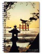 Vintage Japanese Art 23 Spiral Notebook