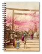 Vintage Japanese Art 25 Spiral Notebook