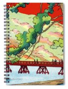Vintage Japanese Art 6 Spiral Notebook