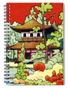Vintage Japanese Art 7 Spiral Notebook