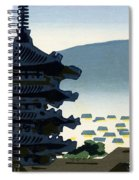 Vintage Japanese Art 9 Spiral Notebook